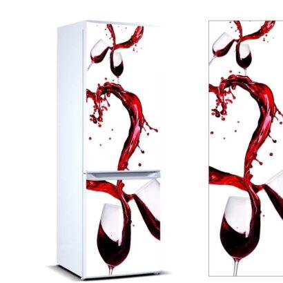 Vinilo Frigorífico Vino Rojo