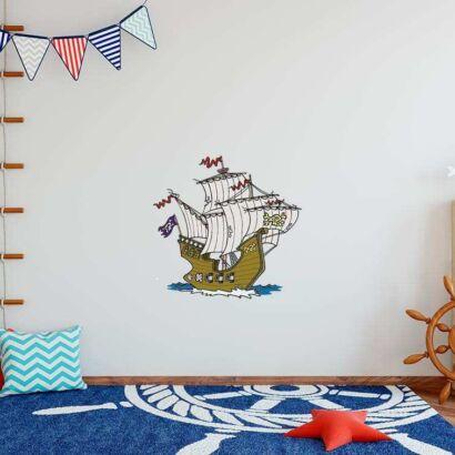 Vinilo Decorativo Infantil Piratas, Barco