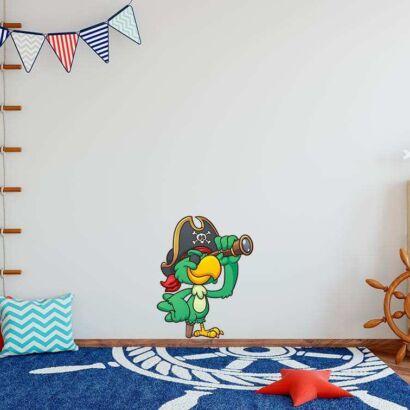 Vinilo Decorativo Infantil Loro Pirata