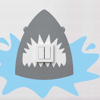 Vinilo Decorativo Interruptores Tiburon