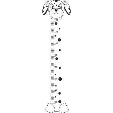 Vinilo Decorativo Medidor Infantil Perro