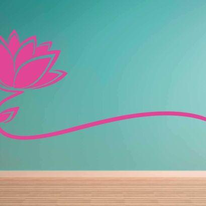Vinilo Decorativo Flor rosa