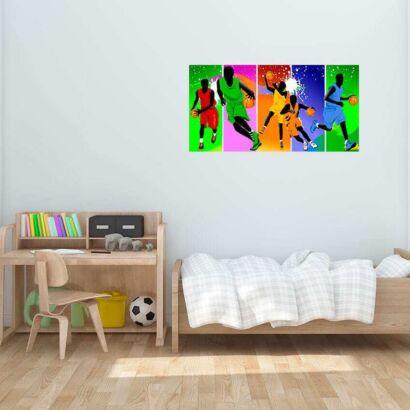 Vinilo Decorativo Baloncesto Color
