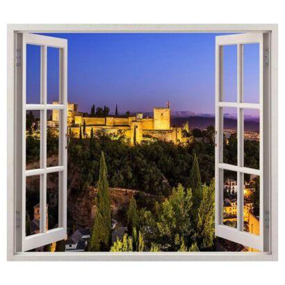 Vinilo Ventana Alhambra de Granada