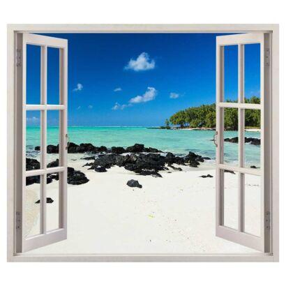 Vinilo Ventana Playa Caribe