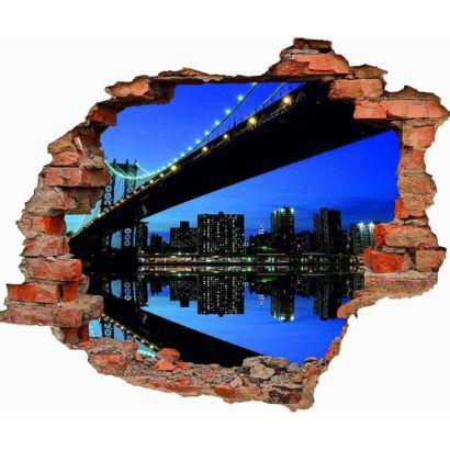 Vinilo 3D Puente Brooklyn