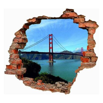Vinilo 3D Golden Gate San Francisco