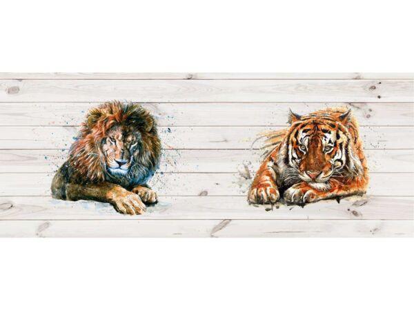 Cabecero Cama Tigre y León