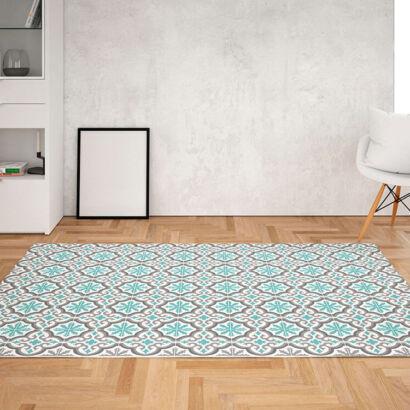 Alfombra vinílica salón azulejos