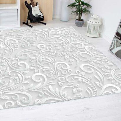 alfombra-flores-blancas-diseño-alfombra