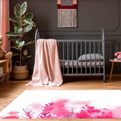 alfombra-flores-pintadas-rosas-alfombra