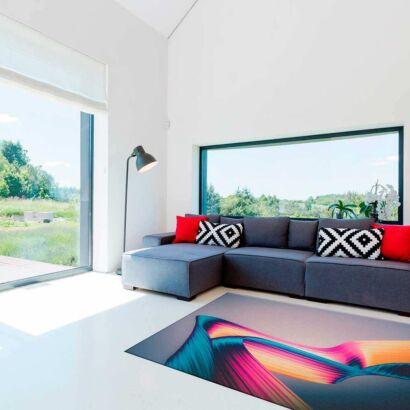 Alfombra PVC Abstracta Lineas Colores