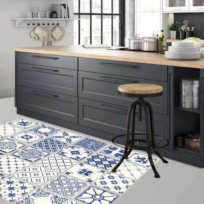 Alfombra PVC Azulejos Azules