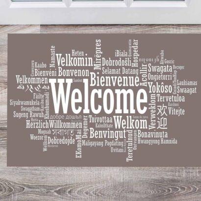 Alfombra PVC Bienvenidos Idiomas
