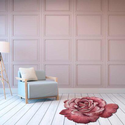 Alfombra PVC Flor Rosa Troquelada