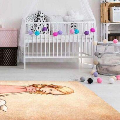 Alfombra PVC Infantil Chica y Animal