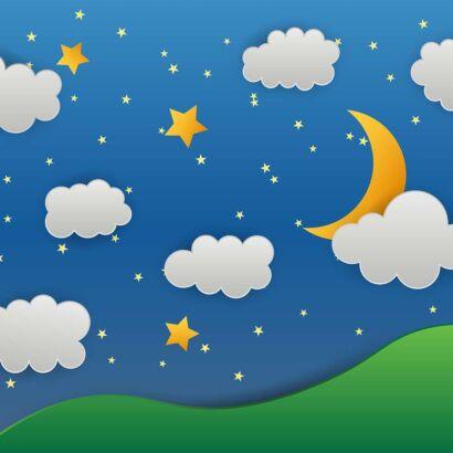 Alfombra PVC Infantil Cielo Estrellas Diseño