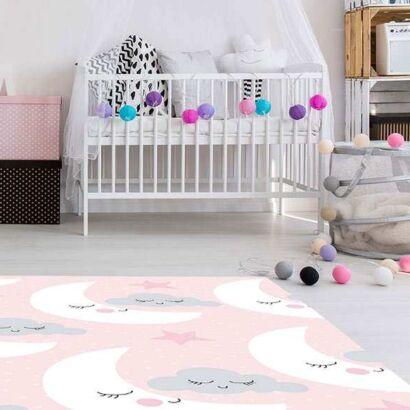 Alfombra PVC Infantil Lunas Nubes