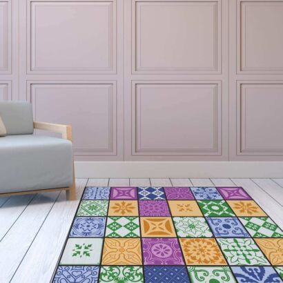 Alfombra PVC Mosaico Colores