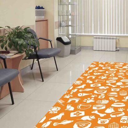 Alfombra PVC Veterinaria Animales Naranja