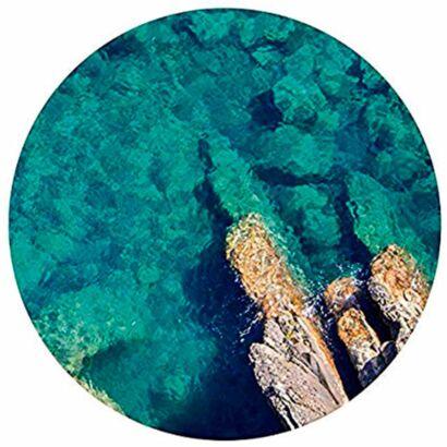 Alfombra Redonda Arrecife Marino Cenital