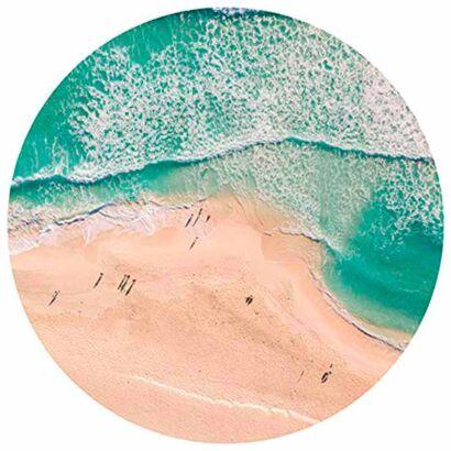 Alfombra Redonda Orilla Playa