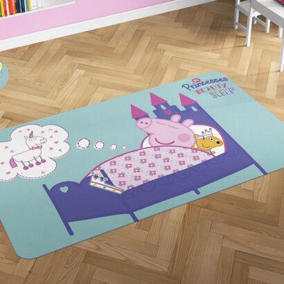 Alfombra PVC Peppa Pig Cama Princesa montaje
