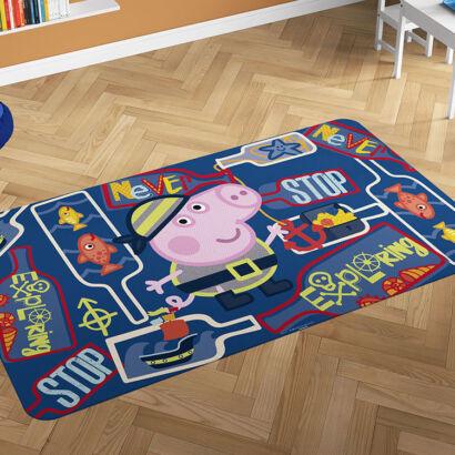 Alfombra PVC Peppa Pig George Explorando montaje