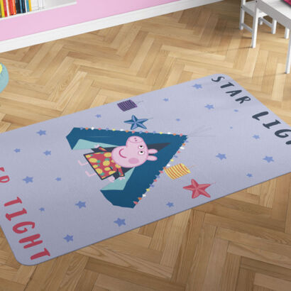 Alfombra PVC Peppa Pig Estrellas montaje