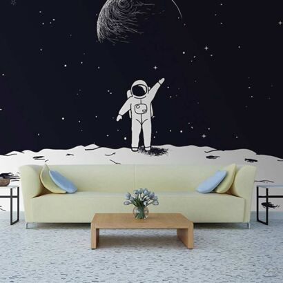 Papel Pintado Astronauta Luna