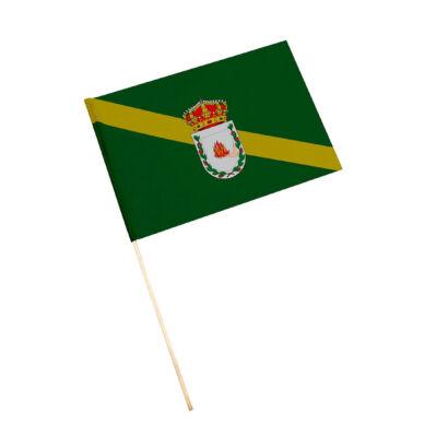 Bandera con palo Aldeaquemada