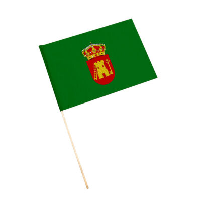 Bandera con palo Cárcheles