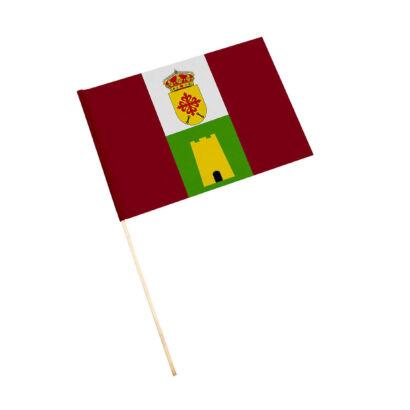 Bandera con palo Higuera de Calatrava