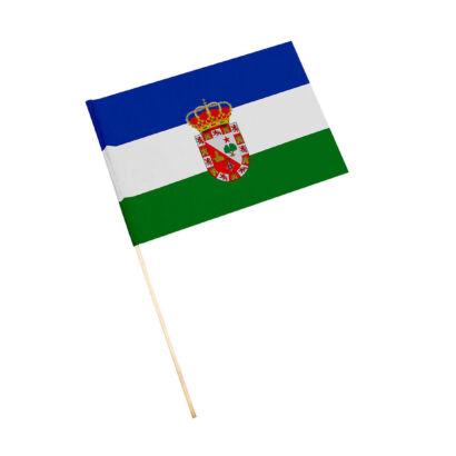Bandera con palo Mengíbar
