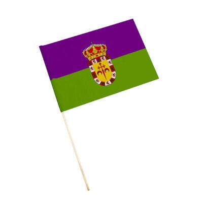 Bandera con palo Valdepeñas
