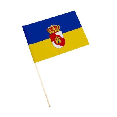Bandera con palo Villanueva de la Reina