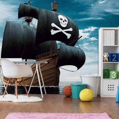 Papel Pintado Barco Pirata Realista