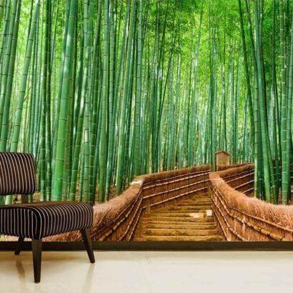 Papel Pintado Puente Bambú