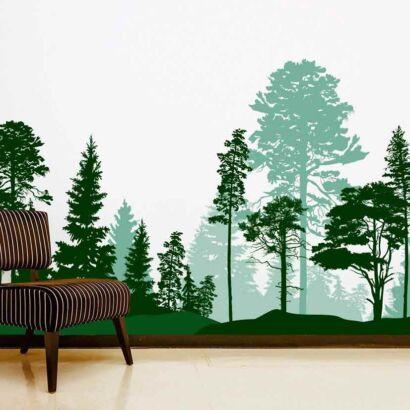 Papel Pintado Bosque Dibujo