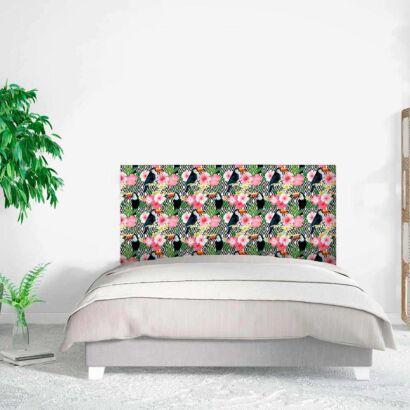 Cabecero Cama Abstracto Floral Tucanes