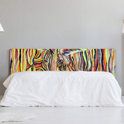 Cabecero Cama Cebras Multicolor