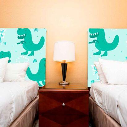 cabecero cama infantil dinosaurios