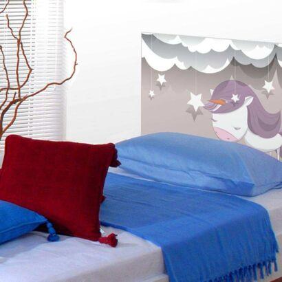 Cabecero Cama Infantil Dulces Sueños Unicornio