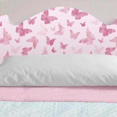 Cabecero Cama Infantil Mariposas Rosas