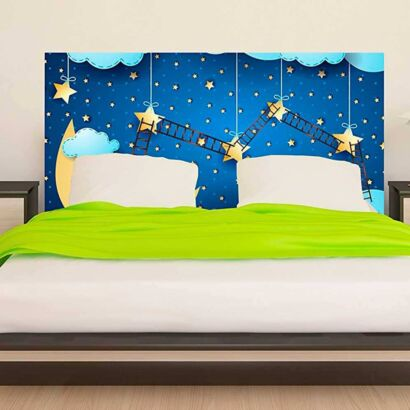 Cabecero Cama Infantil Noche Estrellada