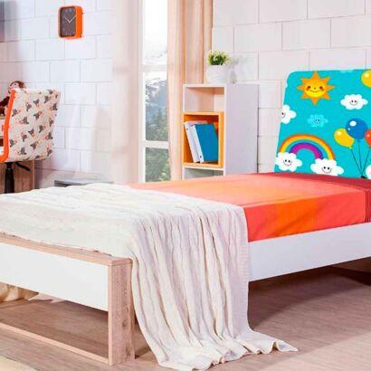 cabecero cama infantil oso panda globos