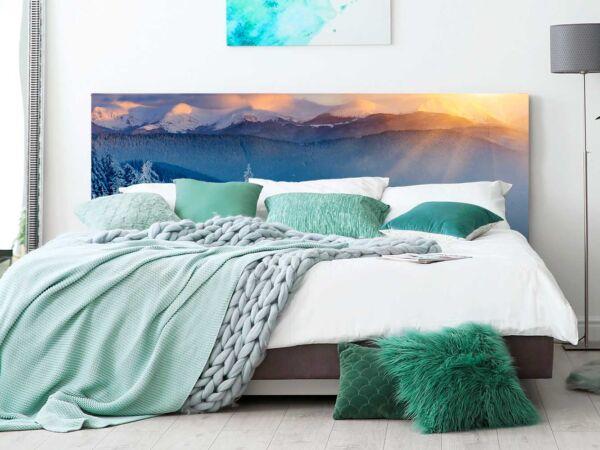 cabecero-cama-paisaje-nevado-cabecero