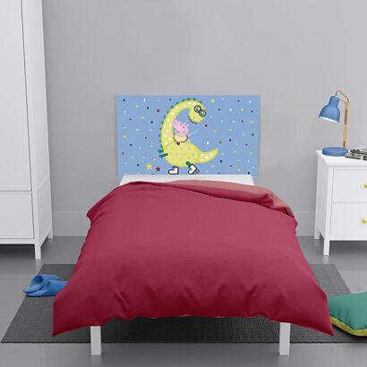 Cabecero cama Peppa Pig George y Dino