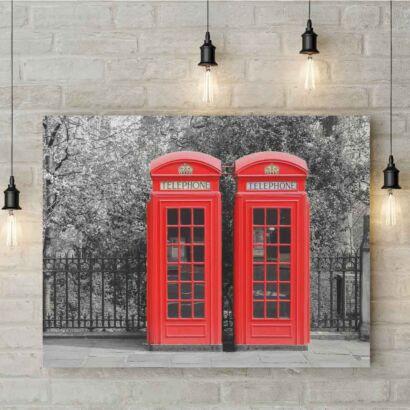 Cuadro PVC Cabinas Teléfono Londres