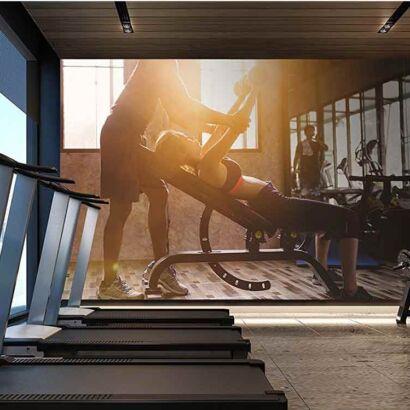 Papel Pintado Chica Gym
